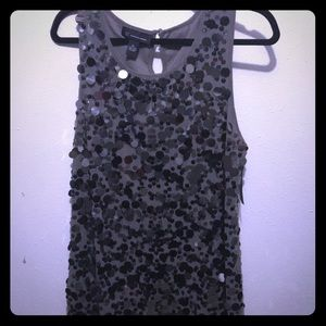 I-N-C Sequin Black and Gray Tank